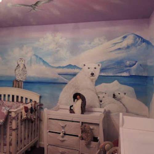 Polar Bear Kids Mural