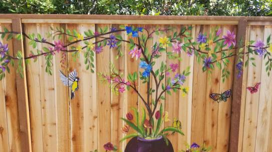 Exterior Fence Mural Design
