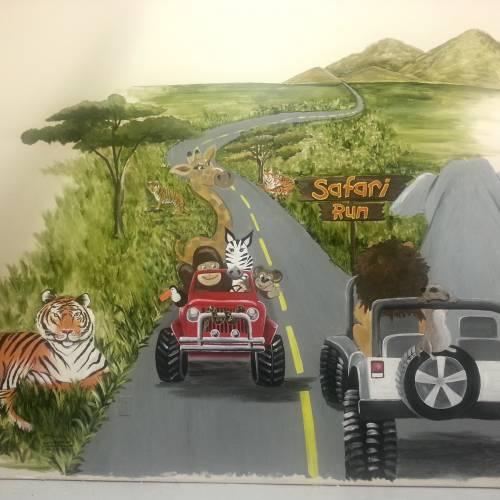 Kids Safari Mural