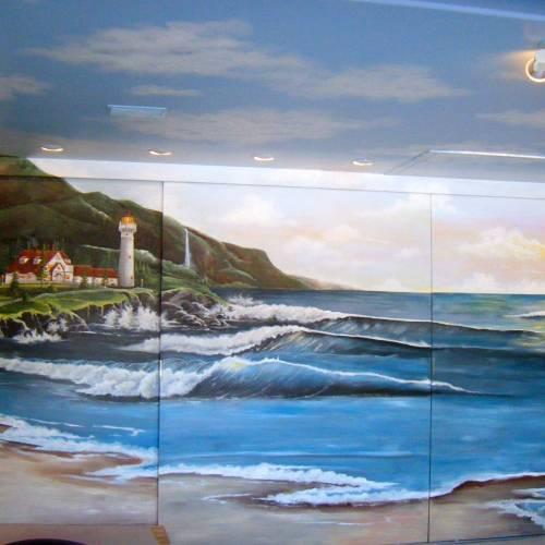 Interior Closet Door Mural