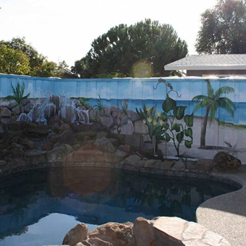 Exterior Swimming Pool Mural
