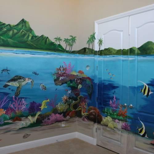 Under the Ocean Playroom Mural